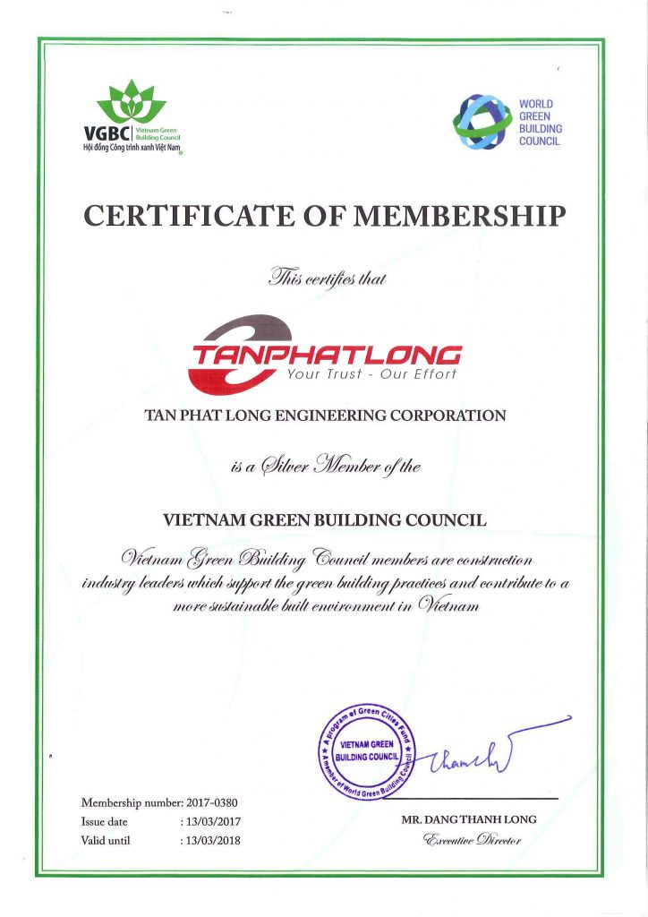 VGBC Certificate