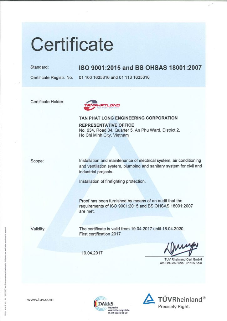 ISO Certificate - ENG